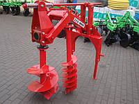 Бур навісний до трактора Wirax - 2 шнека (50 см, 25 см) (Польща), фото 1
