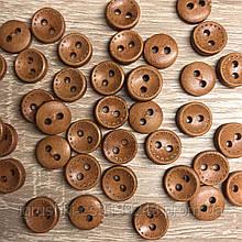 Деревянная декоративная пришивная пуговка 10 мм (20 шт)