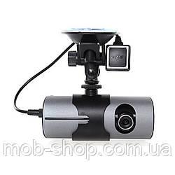 Відеореєстратор з двома камерами Car DVR R300 GPS навігація