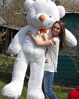 Мишка плюшевый белый 200 см