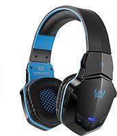 Беспроводные Bluetooth наушники Kotion Each B3505 с автономностью до 10 часов (Черно-синий)