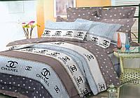 Двуспальное постельное белье 180*220 ЭКОНОМ (5602) Бязь хлопок_полиэстер