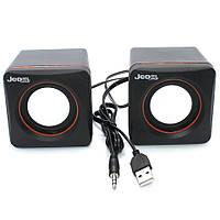 Проводные аудио колонки для компьютера ПК Jedel CK4 USB Акустическая система 2.0, фото 1