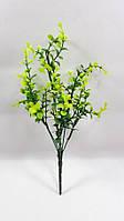 Буксус кустовой 26см искусственный куст ,цвет зеленый с желтым, фото 1