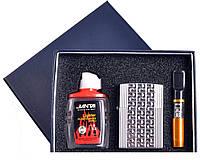 Подарочный набор 3в1 Зажигалка, бензин, мундштук