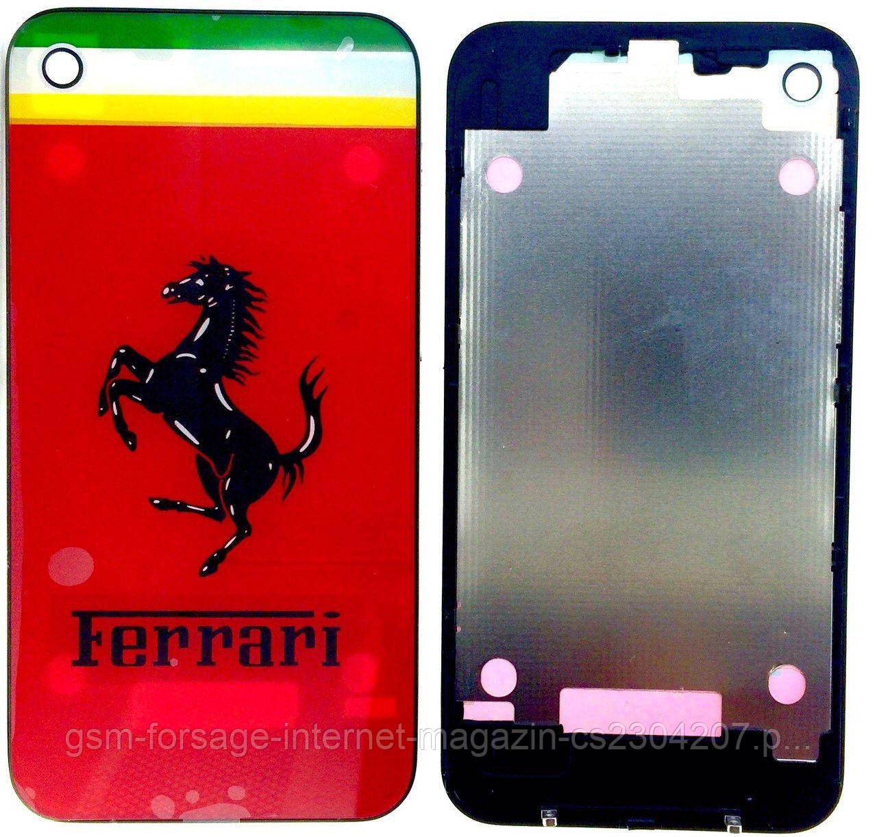 Кришка задня iPhone 4 Red Ferrari OR Quality