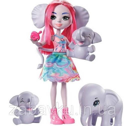 Enchantimals Family Esmeralda Elephant Набор Кукла энчантималс слоненок Эсмеральда Енчантімалс слон