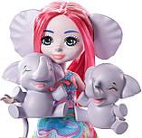 Enchantimals Family Esmeralda Elephant Набор Кукла энчантималс слоненок Эсмеральда Енчантімалс слон, фото 4