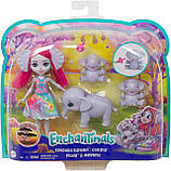 Enchantimals Family Esmeralda Elephant Набор Кукла энчантималс слоненок Эсмеральда Енчантімалс слон, фото 6