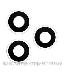 Стекло камеры iphone 11 pro, iphone 11 pro max (комплект 3шт.) silver