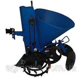 Картоплесаджалка ремінна АПК 3 (регулювання кроку, з транспорт. колесами, 20 л) Преміум