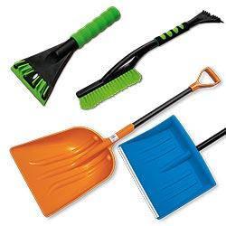 Лопати для снігу, скребки