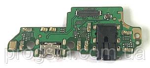 Разъем Зарядки Huawei Honor 7X (Bnd-L21C10, С Платкой)