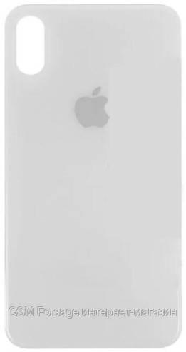 Кришка задня iPhone XS Silver (великий виріз під камеру)