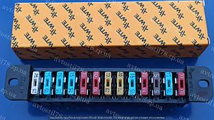 Блок предохранителей 2103-06, 3302, 2217, 2705, 31105, 3110 нового образца Евро (13 предохранителей) WTE (монт