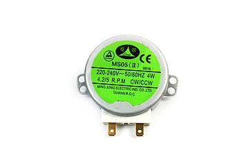 Двигатель тарелки для микроволновой печи 220V 4W (пластиковый вал 11 мм)