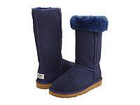 Женские зимние сапоги Угги Ugg Classic Tall (угг, уги, угги, оригинал) синие