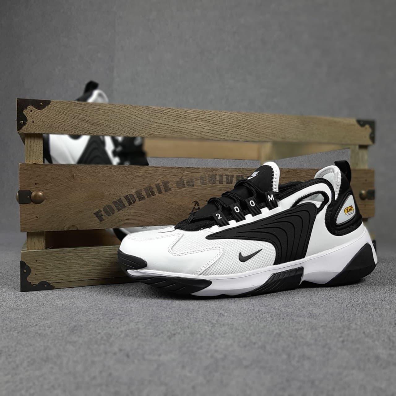 Мужские кроссовки Zoom 2K Белые с чёрным SIN