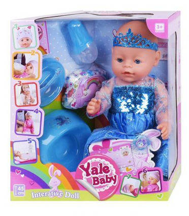 "Пупс ""Yale baby"", в платье BL037M"