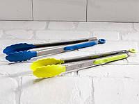 Щипцы кухонные универсальные ( металл, пищевой пластик) 34 см.