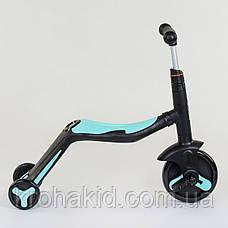 Самокат 3в1 JT 20255 Best Scooter, самокат-велобіг від-велосипед, світло, 8 мелодій, PU колеса d=20/d=11см, фото 2