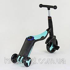 Самокат 3в1 JT 20255 Best Scooter, самокат-велобіг від-велосипед, світло, 8 мелодій, PU колеса d=20/d=11см, фото 3
