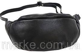 Шкіряна сумка на пояс, бананка Always Wild 106NDM чорна
