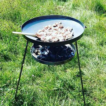 Сковорода з диска, борони 50 см з підставкою для розведення вогню (садж)