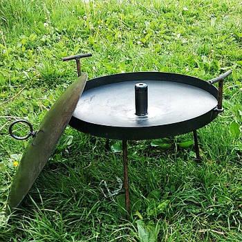 Сковорода з диска, борони 40 см з отвором для швидкого приготування