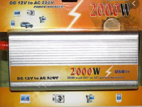 Преобразователь напряжения инвертор 2000W ( 12/220Вт)