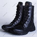 Берцы Кожаные, Демисезонные Шторм-2 Черный, фото 3