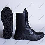 Берцы Кожаные, Демисезонные Шторм-2 Черный, фото 4