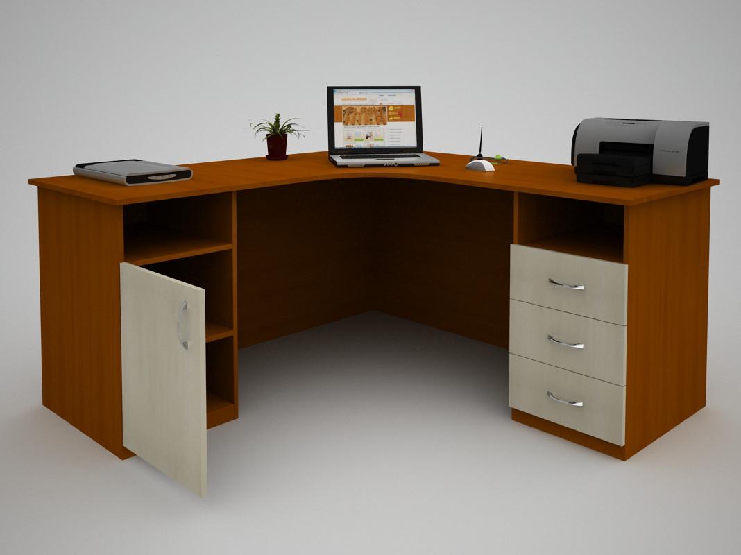 Письменный прямой офисный стол FlashNika / ФлешНика С-45 (1400)