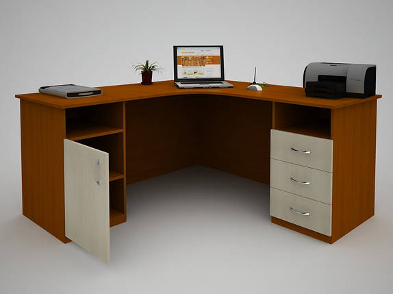 Письменный прямой офисный стол FlashNika / ФлешНика С-45 (1400), фото 2