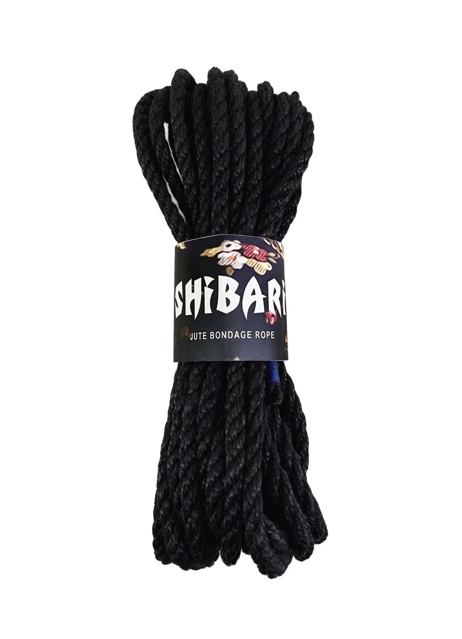 Джутова мотузка для Шибарі Feral Feelings Shibari Rope, 8 м чорна