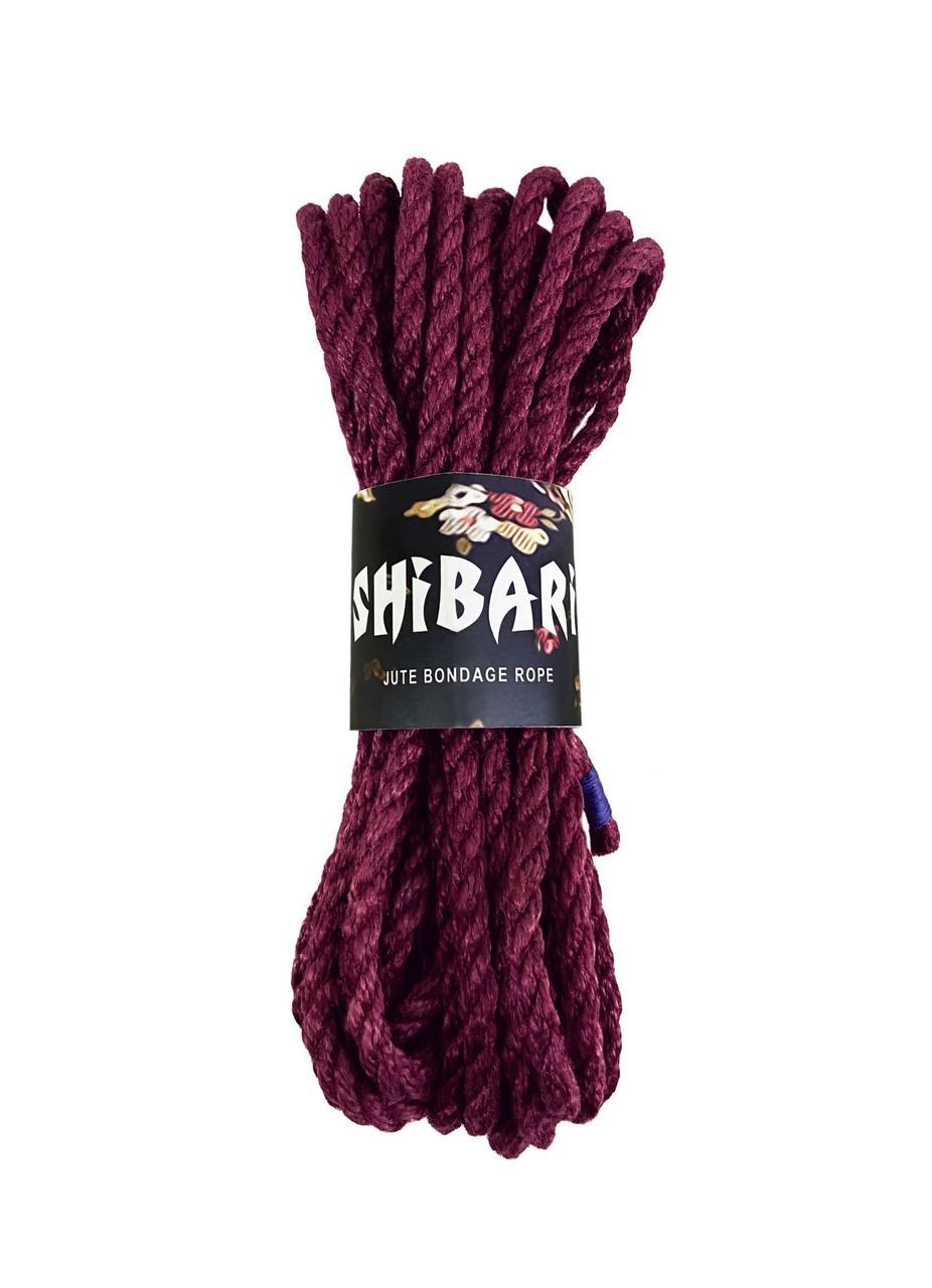 Джутова мотузка для Шибарі Feral Feelings Shibari Rope, 8 м фіолетова