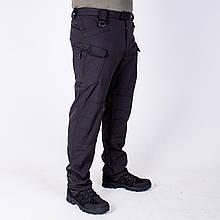 Тактические штаны на флисе Softshell Esdy Pro Черные