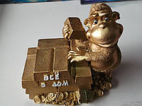 Керамическая копилка обезьянка