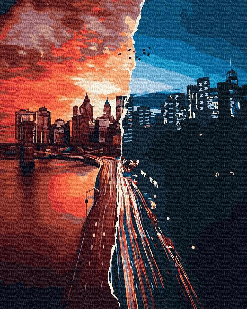 Картина по Номерам Закат и рассвет 40х50см RainbowArt
