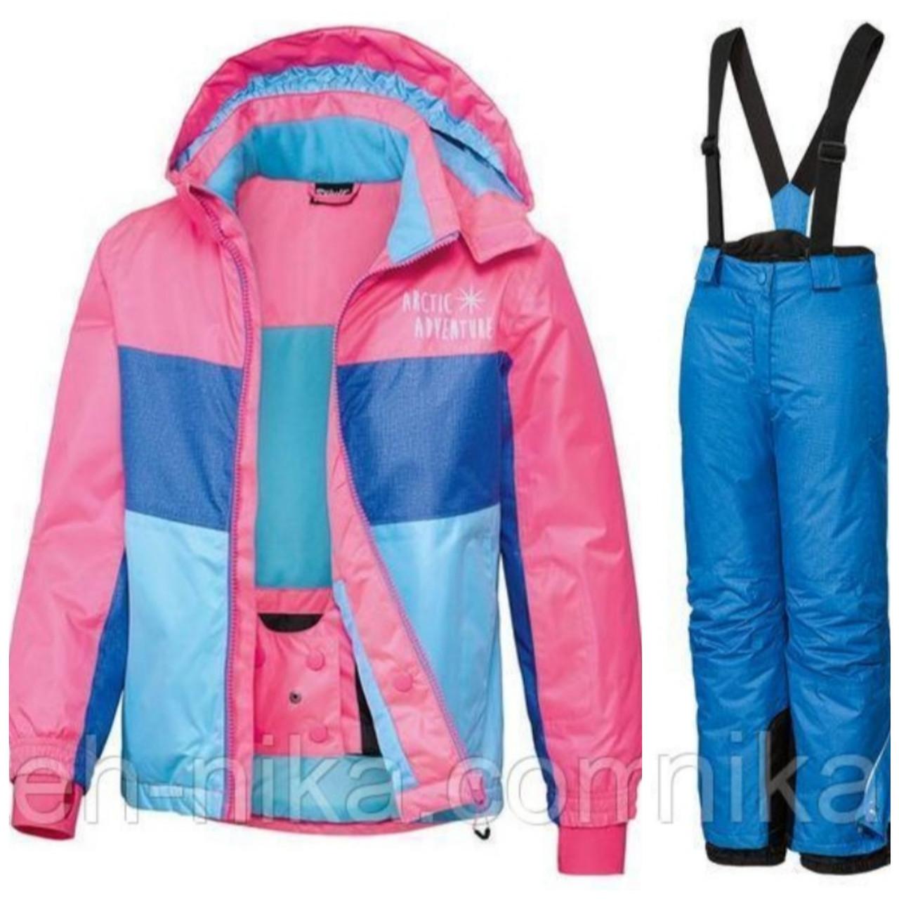 Лыжный костюм для девочки (разноцветная куртка и синие штаны меланж) Crivit р. 158/164см