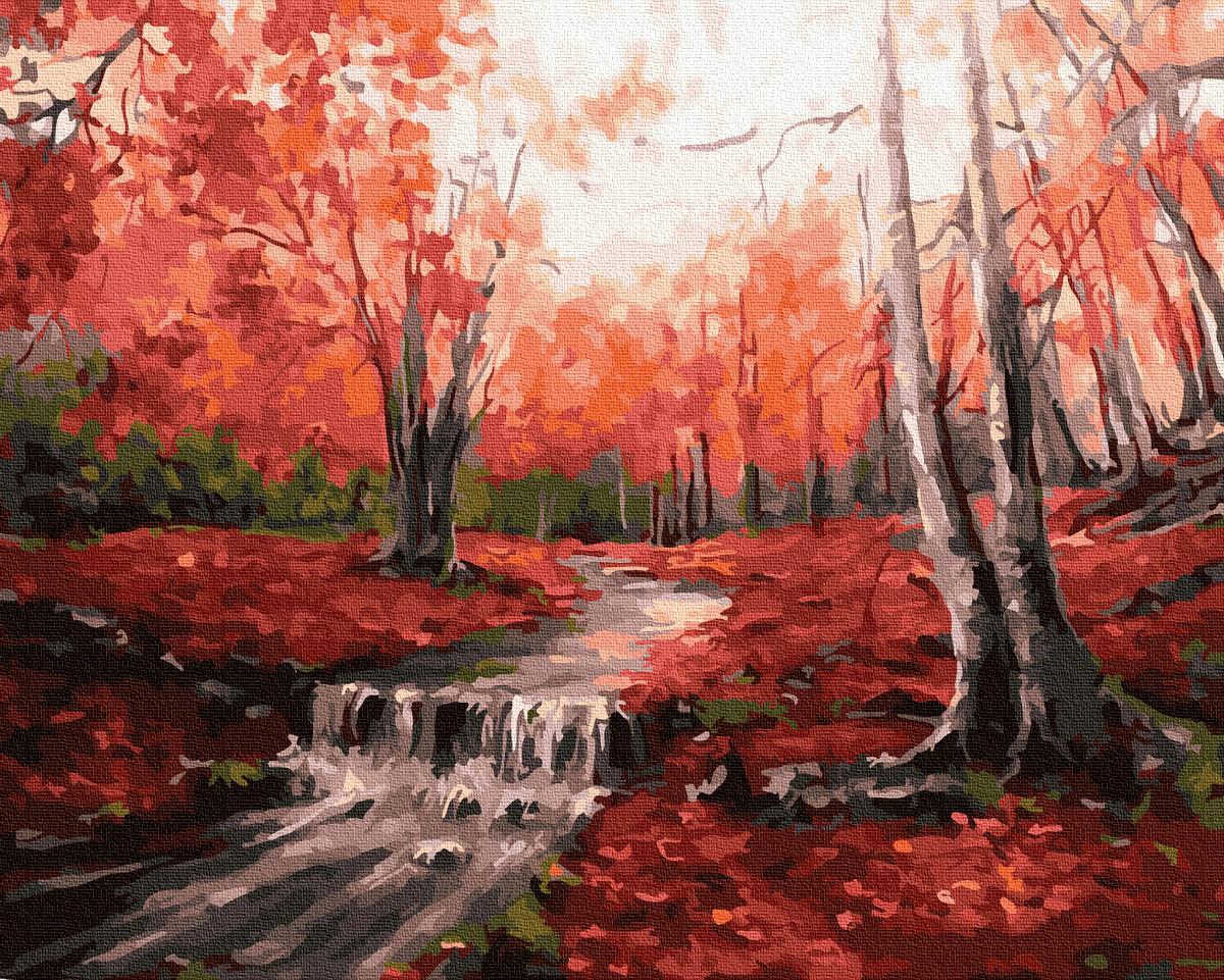 Картина по Номерам Рассвет в лесу 40х50см RainbowArt