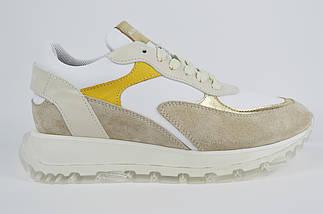 Кроссовки Alpino 1009 36 Бежевый + белый + золото, фото 2