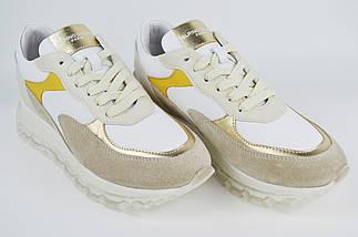 Кроссовки Alpino 1009 36 Бежевый + белый + золото, фото 3