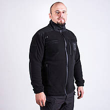Кофта флисовая черная, тактическая, для полиции
