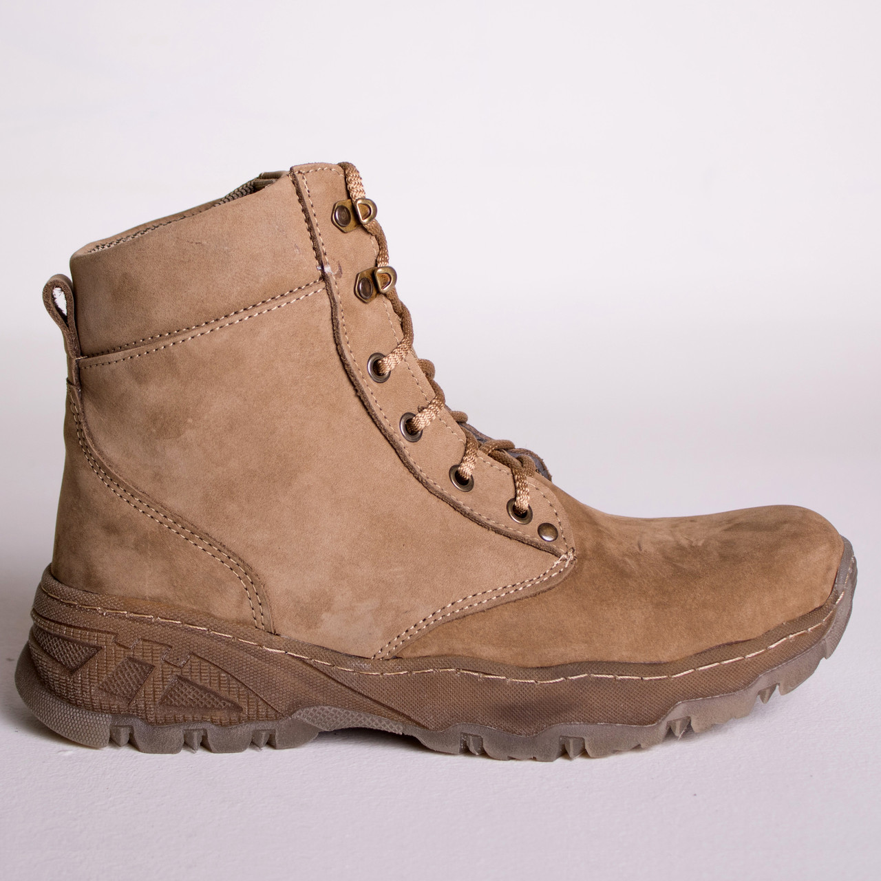 Ботинки Тактические, Зимние AR-01 Песочные ( натуральный мех )