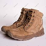 Ботинки Тактические, Зимние AR-01 Песочные ( натуральный мех ), фото 3
