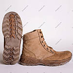 Ботинки Тактические, Зимние AR-01 Песочные ( натуральный мех ), фото 4
