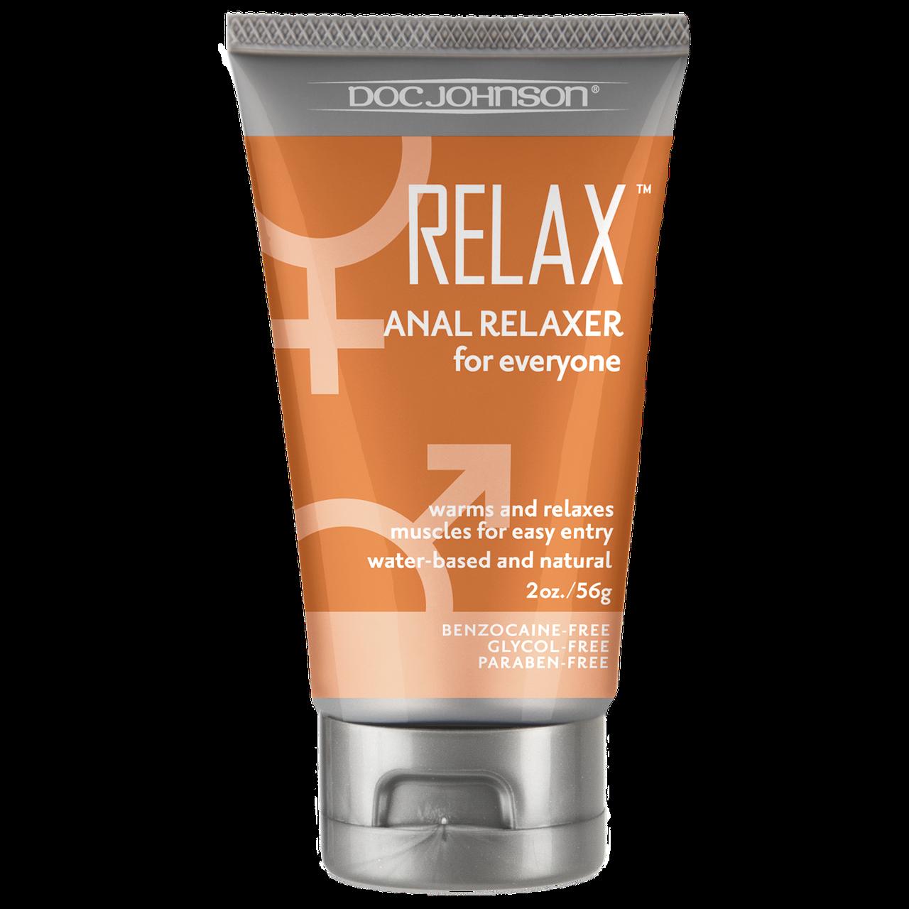 Розслабляючий і розігріваючий гель для анального сексу Doc Johnson RELAX Anal Relaxer (56 гр)