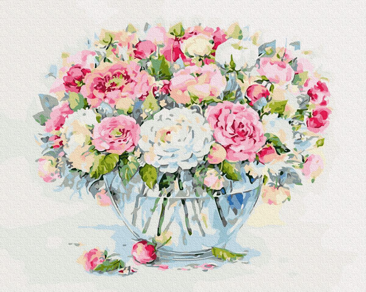 Картина за Номерами Квіти 40х50см RainbowArt