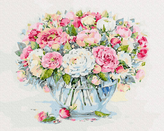 Картина по Номерам Цветы 40х50см RainbowArt, фото 2